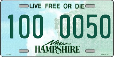 NH license plate 1000050