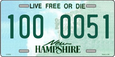 NH license plate 1000051