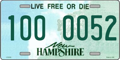 NH license plate 1000052