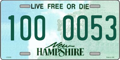 NH license plate 1000053