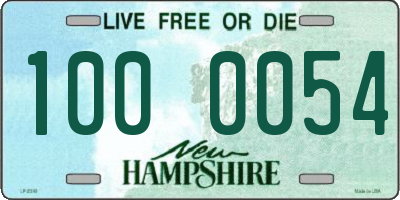 NH license plate 1000054