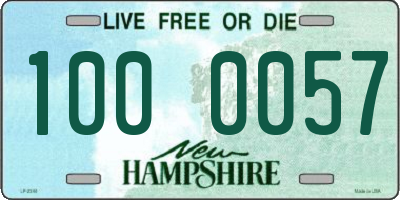 NH license plate 1000057