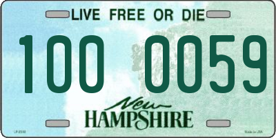 NH license plate 1000059