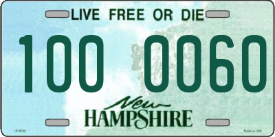 NH license plate 1000060