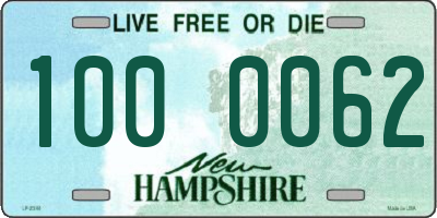 NH license plate 1000062