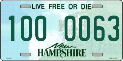 NH license plate 1000063