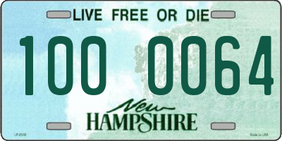 NH license plate 1000064
