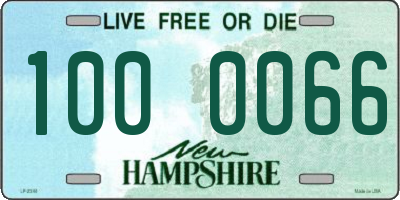 NH license plate 1000066