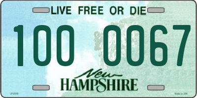 NH license plate 1000067