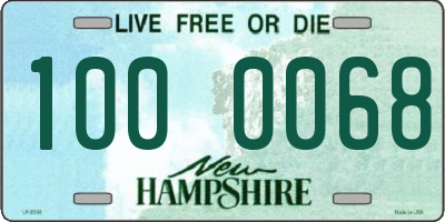 NH license plate 1000068