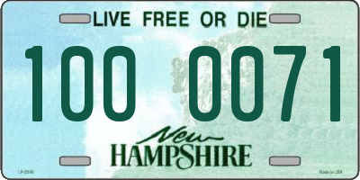 NH license plate 1000071