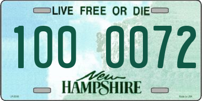 NH license plate 1000072