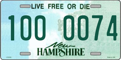 NH license plate 1000074