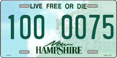 NH license plate 1000075
