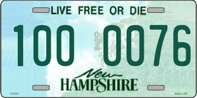 NH license plate 1000076