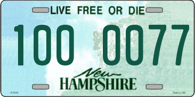 NH license plate 1000077