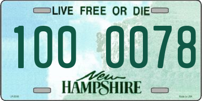 NH license plate 1000078
