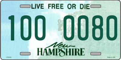 NH license plate 1000080
