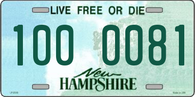 NH license plate 1000081