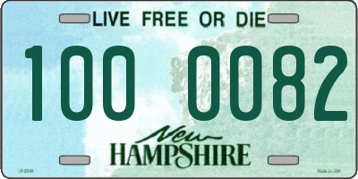 NH license plate 1000082