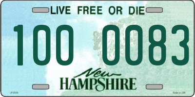 NH license plate 1000083