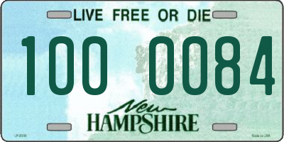 NH license plate 1000084