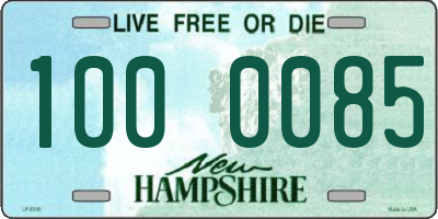 NH license plate 1000085