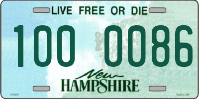 NH license plate 1000086