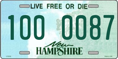 NH license plate 1000087