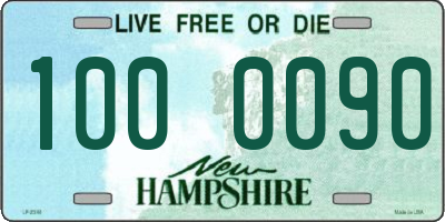NH license plate 1000090