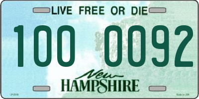 NH license plate 1000092