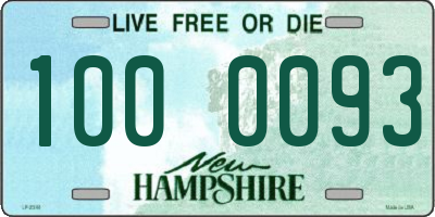NH license plate 1000093
