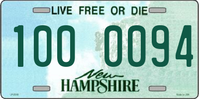 NH license plate 1000094