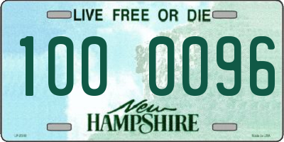 NH license plate 1000096