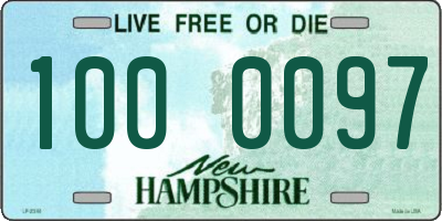 NH license plate 1000097