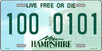 NH license plate 1000101