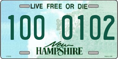 NH license plate 1000102