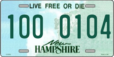 NH license plate 1000104