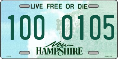 NH license plate 1000105