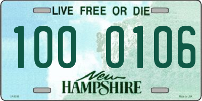 NH license plate 1000106