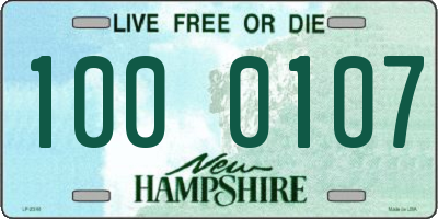 NH license plate 1000107