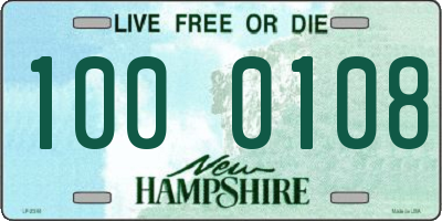 NH license plate 1000108