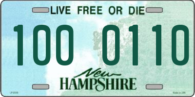 NH license plate 1000110