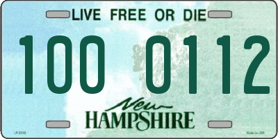 NH license plate 1000112