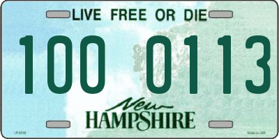 NH license plate 1000113