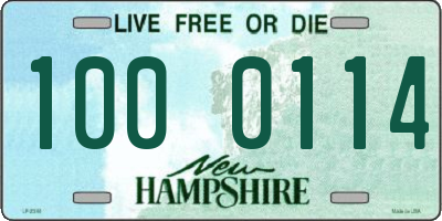 NH license plate 1000114