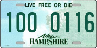 NH license plate 1000116