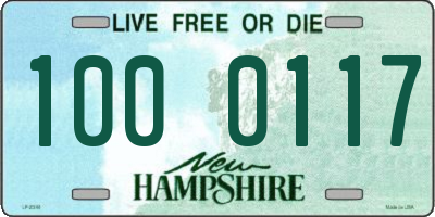 NH license plate 1000117