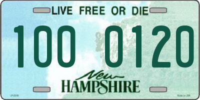 NH license plate 1000120