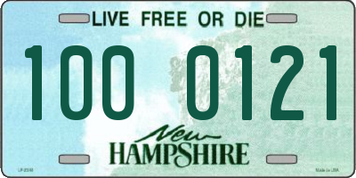 NH license plate 1000121